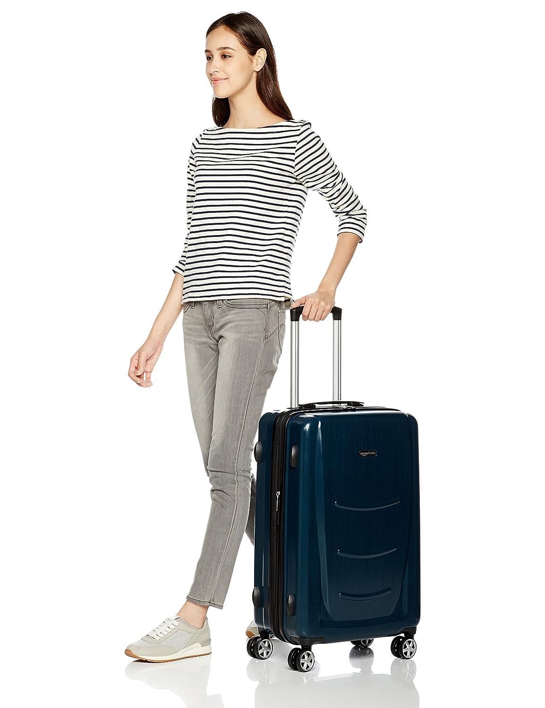 55 cm, 68 cm, 78 cm Basics Valise rigide /à roulettes pivotantes Lot de 3/valises Gris ardoise