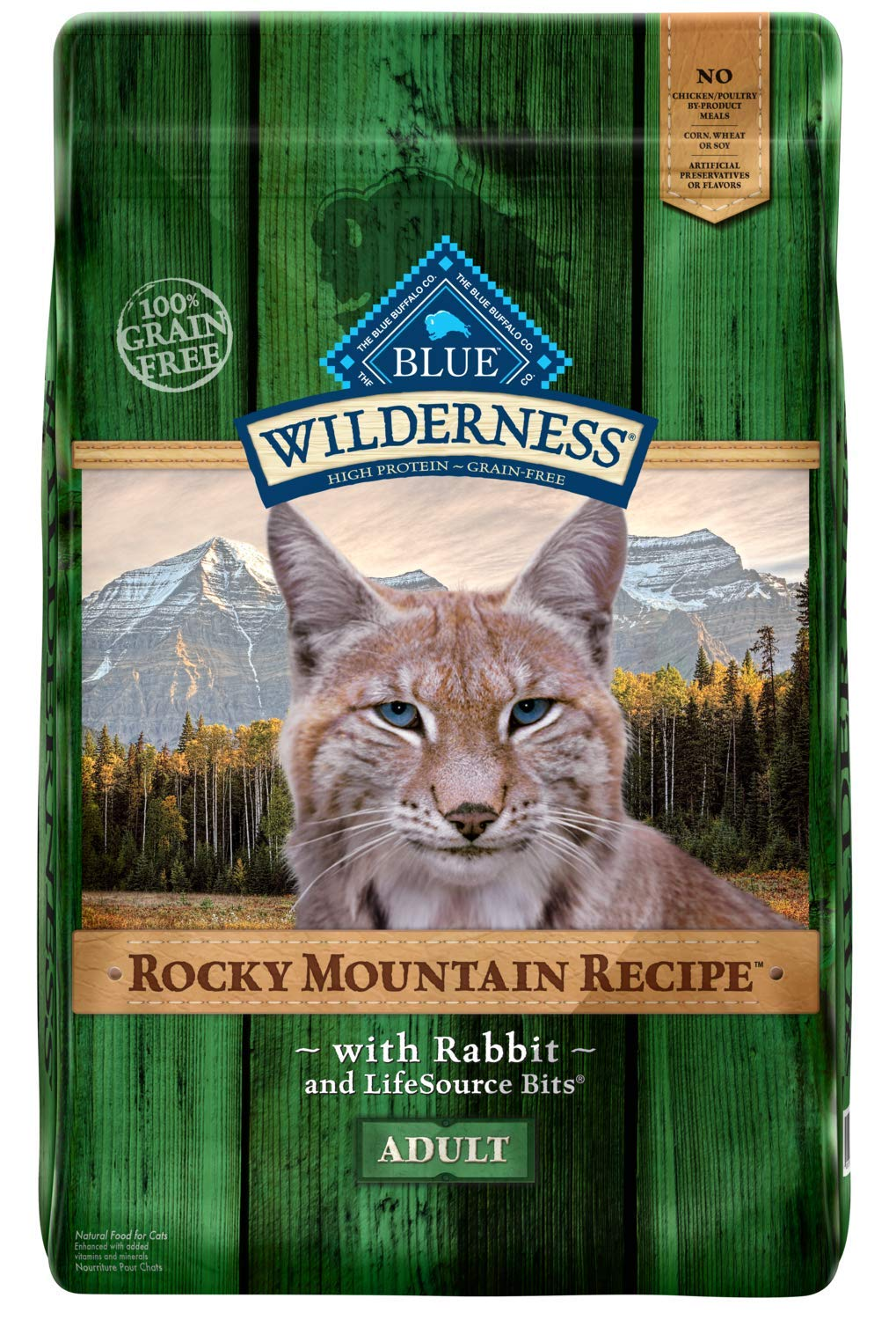 Blue Buffalo Wilderness Rocky Mountain Recipe High Protein Grain Free Natural Adult Dry Cat Food Rabbit 10 Lb