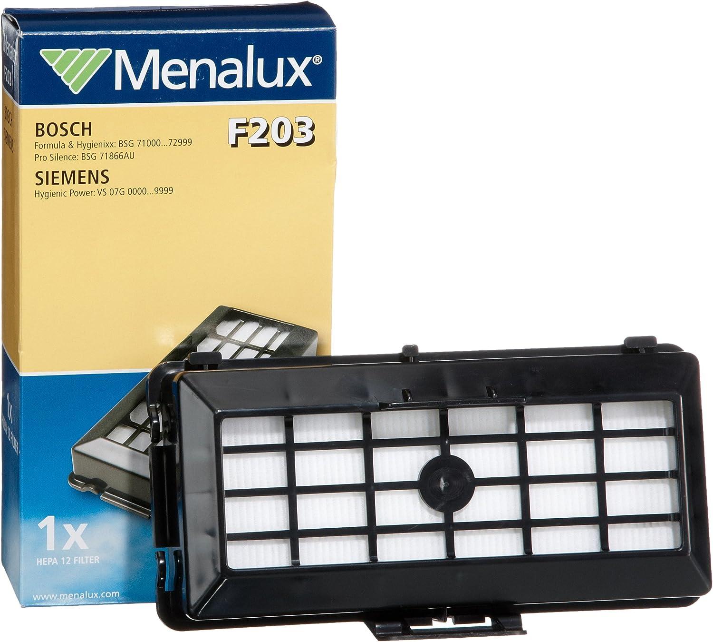 Menalux F 203 - Filtro HEPA 12 para aspiradores Siemens VS07G y Bosch BSG 71: Amazon.es: Hogar
