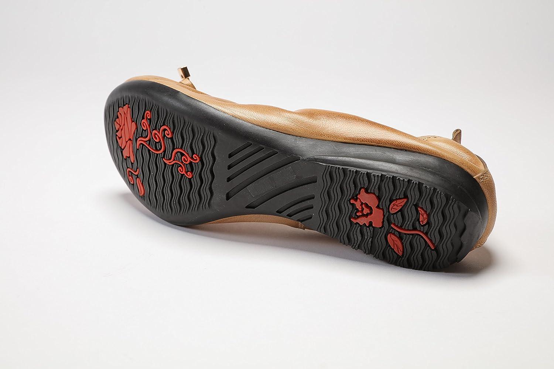 Ballerina Flat Bow Style Leather Pumps Shoe for Woman B07CZLRXRJ 9 B(M) US|Pale Pink