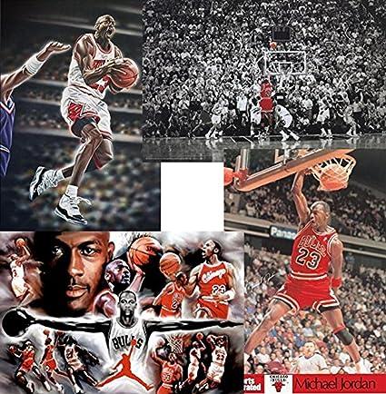 89a3c22a7496ee Image Unavailable. Image not available for. Color  Buyartforless Michael  Jordan 4 Pack Set 36x24 Art Print Posters Superstar Legend