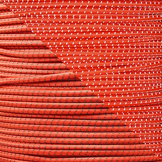 """Reflective Shock Cord 1//8/"""" Diameter Elastic Bungee Cord in Various Colors /& Lengths Made in The USA"""