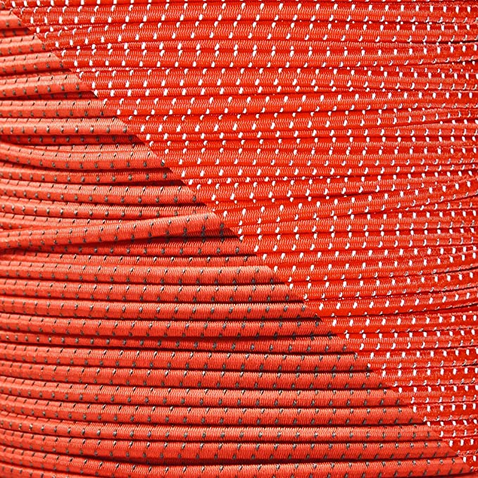 """1//4 PARACORD PLANET Elastic Bungee Nylon Shock Cord 2.5mm 1//32 3//16 5//16 5//8 1//8/"""" 1//16 1//2 inch Crafting Stretch String 10 25 50 /& 100 Foot Lengths Made in USA 3//8"""