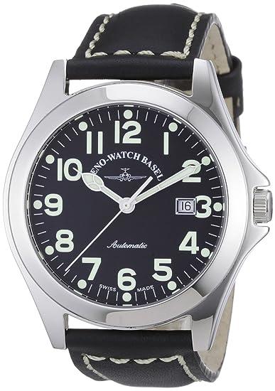 Zeno Watch Basel Ghandi 8112-a1 - Reloj analógico automático para hombre, correa de