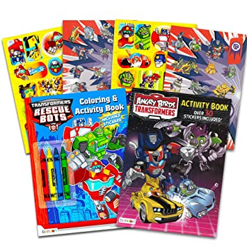 transformers rescue bots coloring and activity book set 2 books 96 pages - Rescue Bots Coloring Book