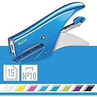 Leitz 55312036 - Grapadora alicate (capacidad: 40 hojas, grapas incluidas), color azul