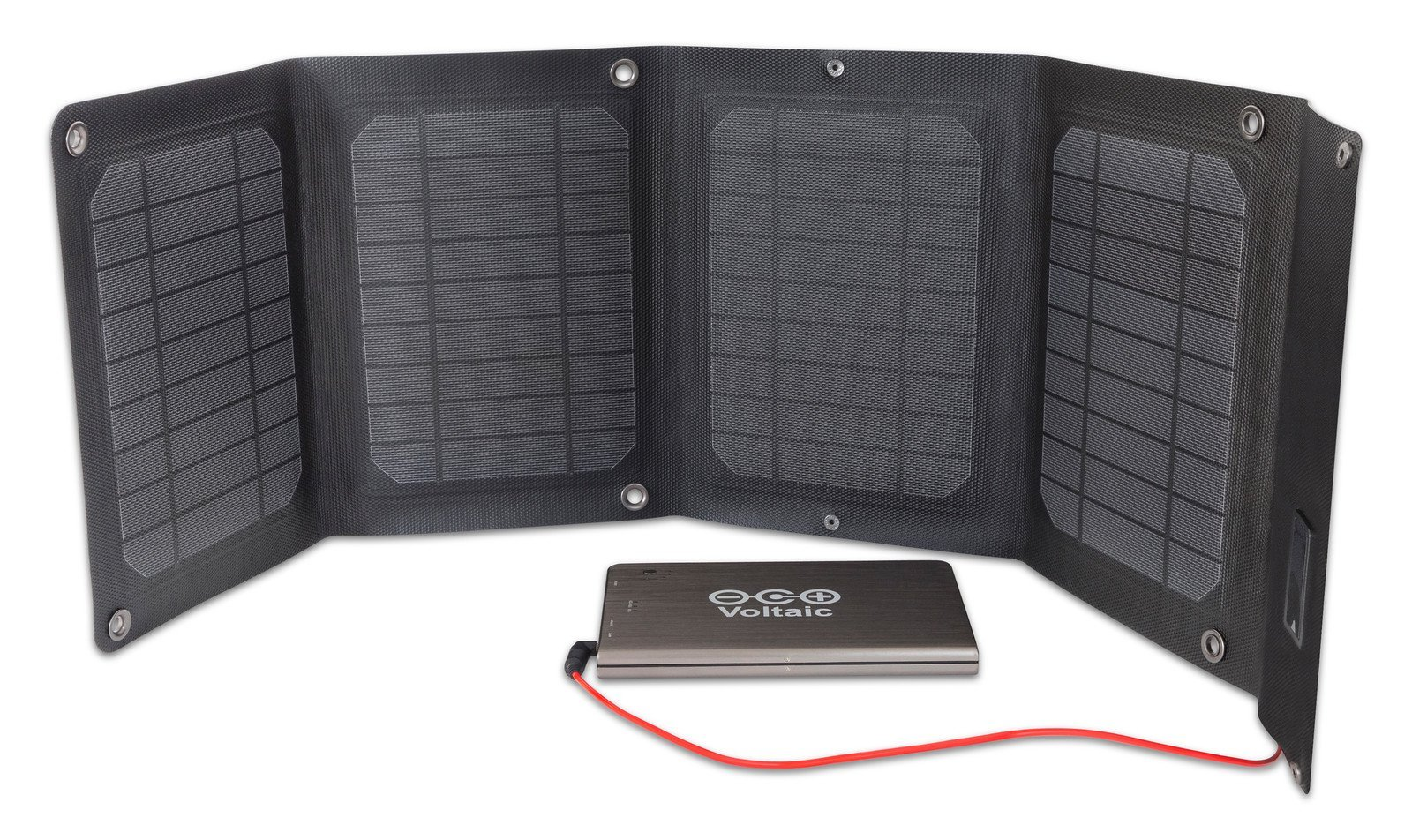Voltaic Systems Arc 20 Watt Rapid Solar Laptop Charger | Includes a Battery Pack (Power Bank) and 2 Year Warranty | Powers Laptops Including Apple MacBook, Phones, USB Devices and More