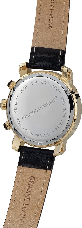 10600A Chrono Diamond Nestor Acier Argent: : Montres