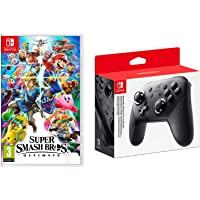 Super Smash Bros. Ultimate (Nintendo Switch, Region Free Import) with Nintendo Switch Pro Controller