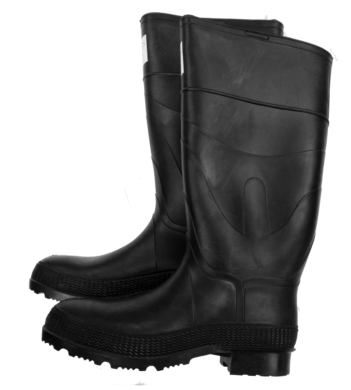 Herco 16'' Black Rubber Steel Toe Rain Work Boots - Men's Size 11