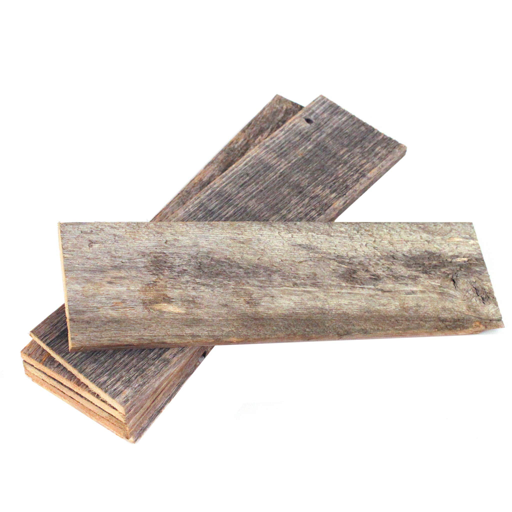 Rustic Farmhouse Reclaimed Barn Wood Bundle   Remodeling   Weathered   DIY   Repurposed   Decoration   Shiplap   Wall   Pack of 6 (60 in) Thin Planks by BarnwoodUSA LLC