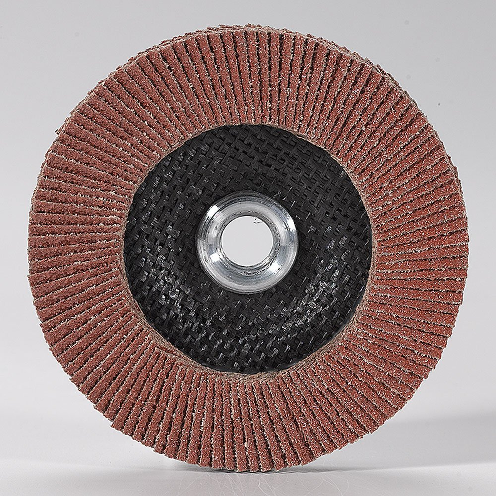 Mercer Industries 260H080 Aluminum Oxide Flap Disc 10 Pack 4 1//2 x 5//8 11 Thread High Density Type 27 4 1//2 x 5//8 11 Thread Grit 80