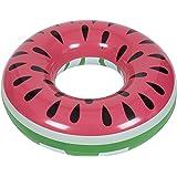SHINING 浮き輪 大人用 直径120cm 足踏み式ポンプ付き 暑さ対策 プール・海・川 水泳用品 可愛いデザイン YQXG004(スイカ型)