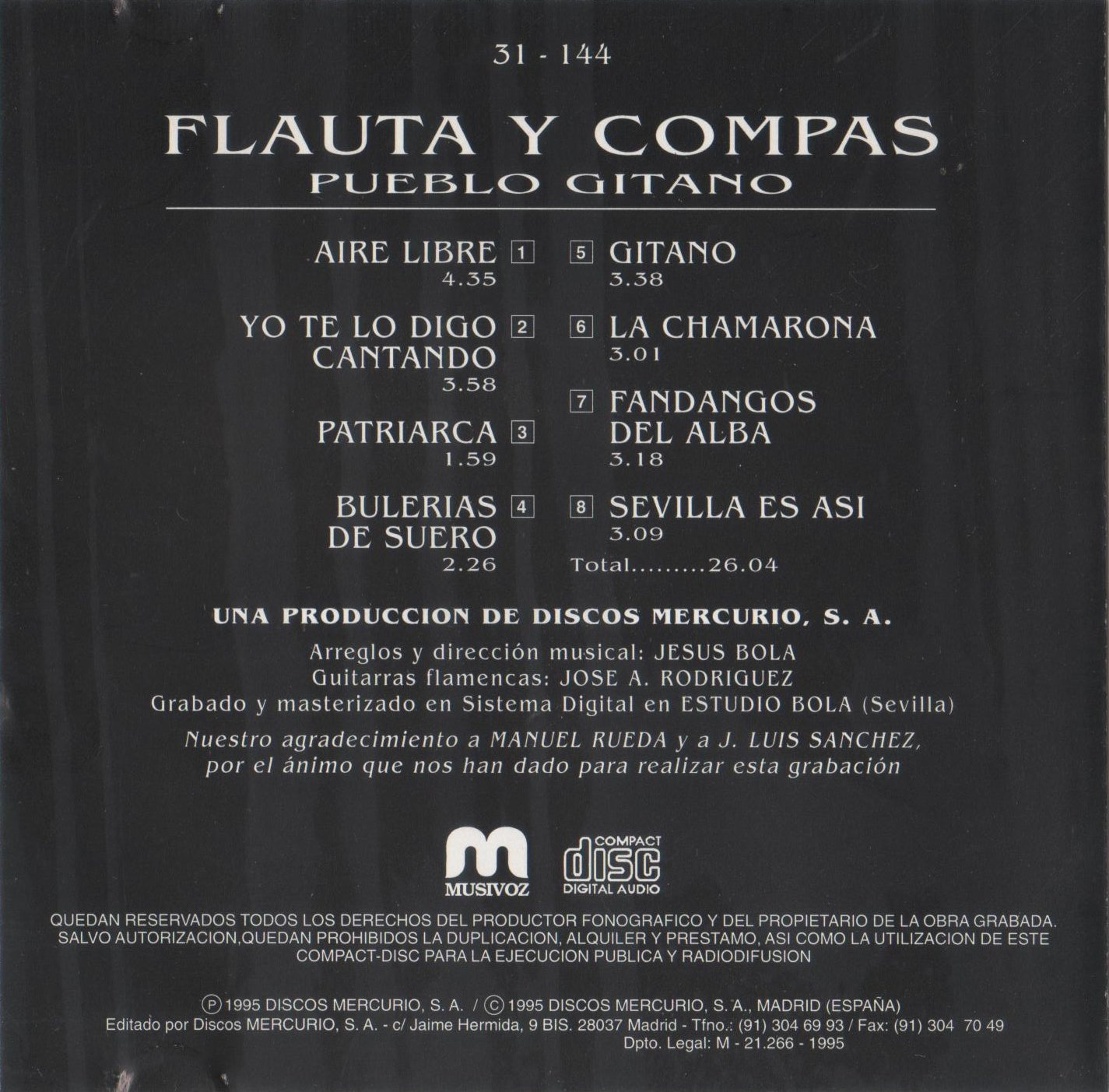 Flauta y Compas: Pueblo Gitano: Amazon.es: Música