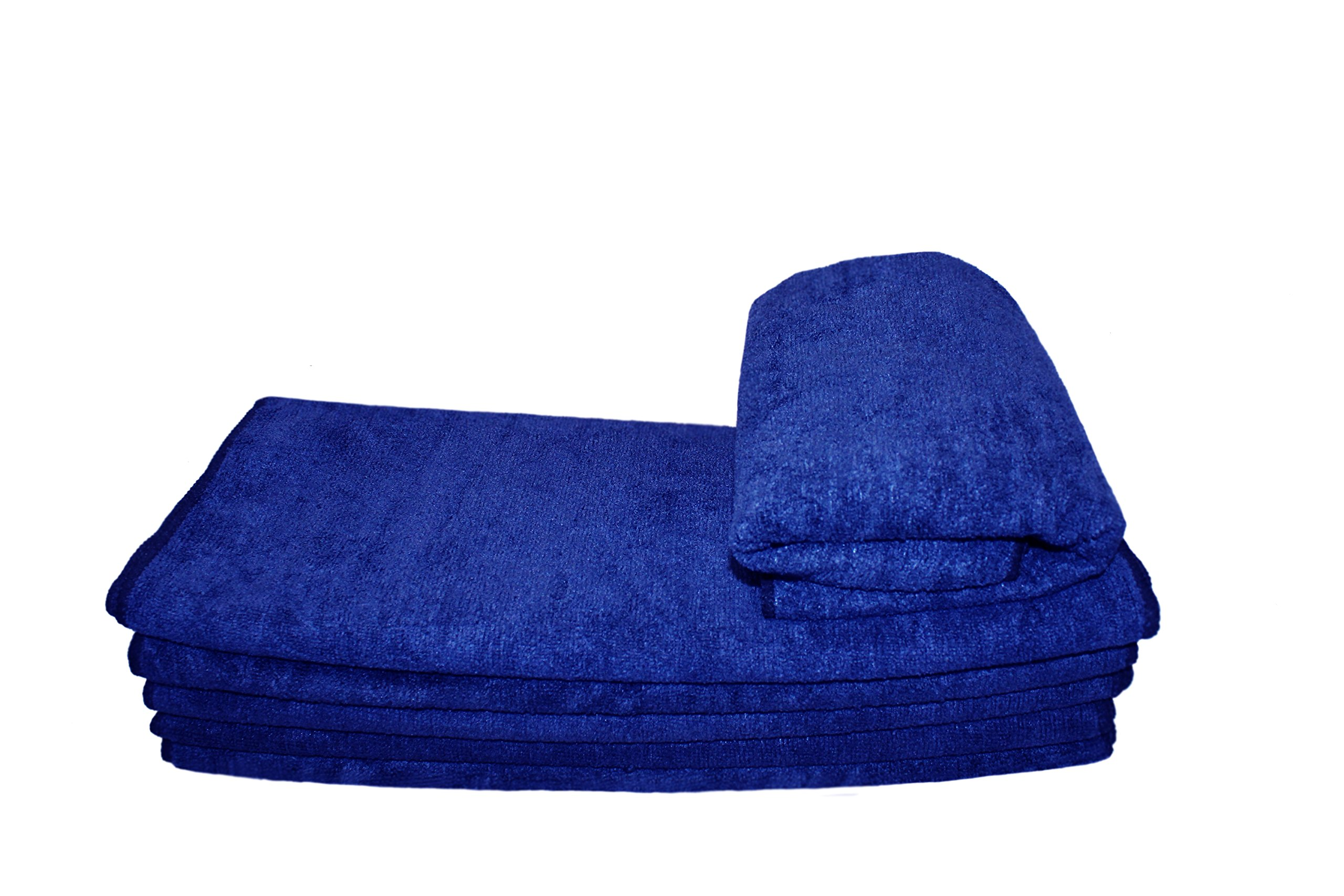 6 DOZEN 72pcs Premium Microfiber Towel 16'' X 27'' - Royal Blue
