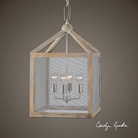 4 light cottage wood lantern pendant screen mesh coastal 4 light cottage wood lantern pendant screen mesh coastal chandelier aloadofball Image collections