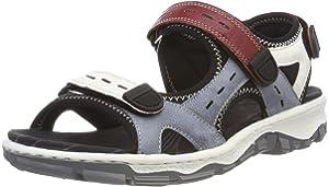 Sandals Size3 Black 5 Rieker uk co Women's Lucy Outdoor UkAmazon sQdCxthr