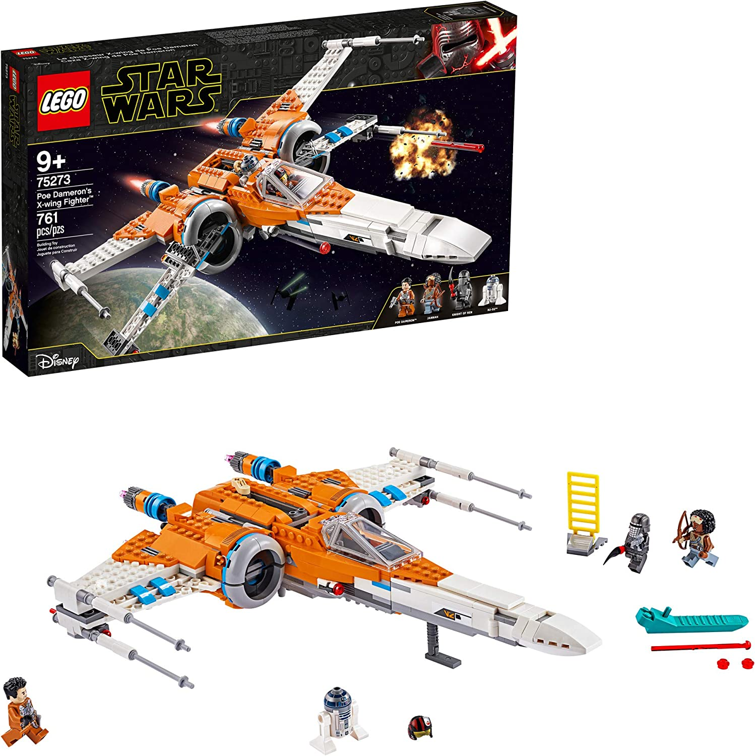 LEGO Star Wars Poe Dameron's X-Wing Fighter 75273 Building Kit, Cool Construction Toy for Kids, New 2020 (761 Pieces)