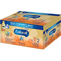 Enfamil A+ 2 Infant Formula, Ready to Feed Bottles, 237mL, 18 pack