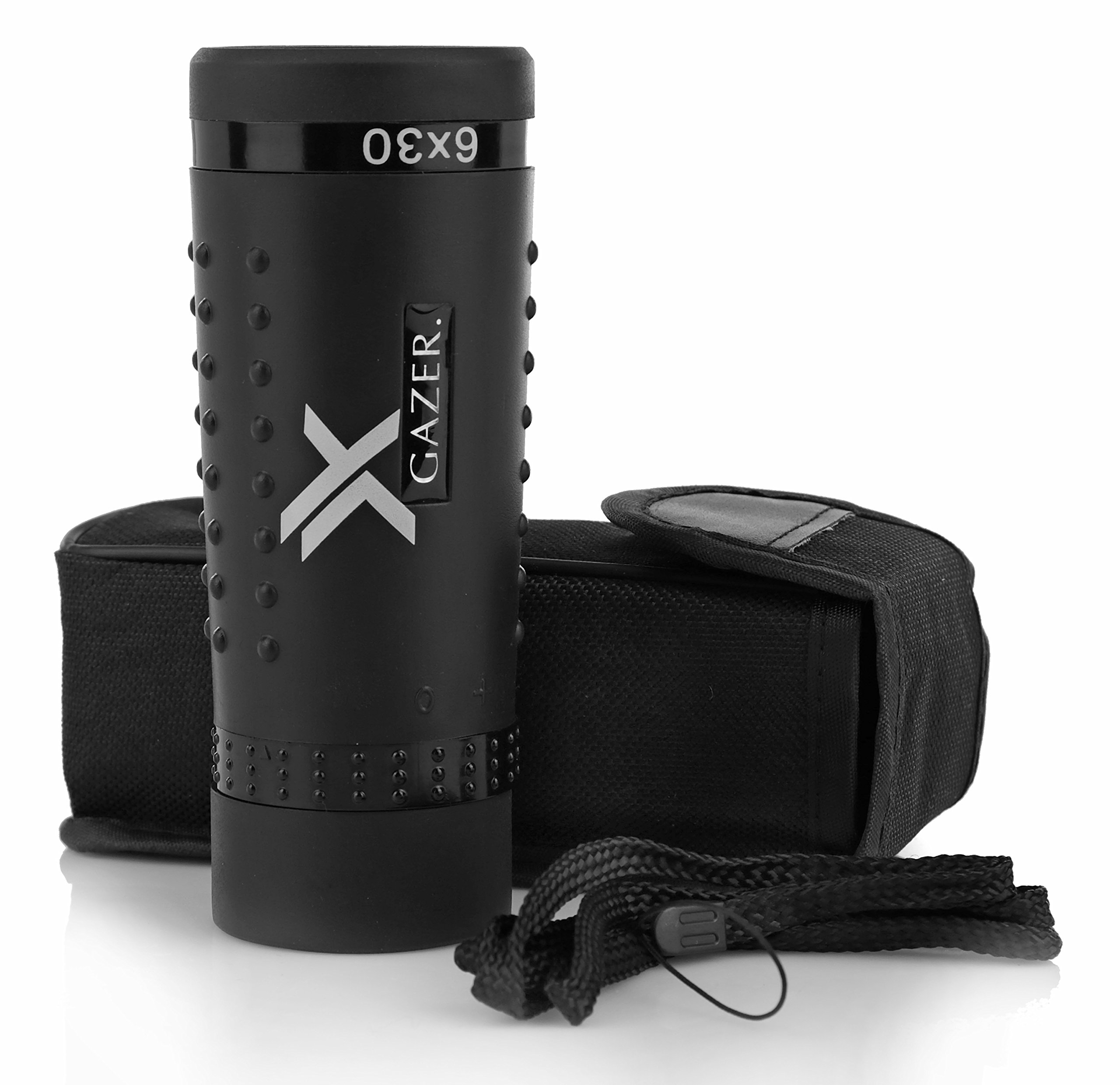 Xgazer Optics YV Bird Watching Clear Wide View Monocular Grip Scope, Great for Birding, Hiking, Hunting and Surveillance, FMC, Compact Handheld Telescope, Cloth, Neck Strap & Case are Included by Xgazer Optics