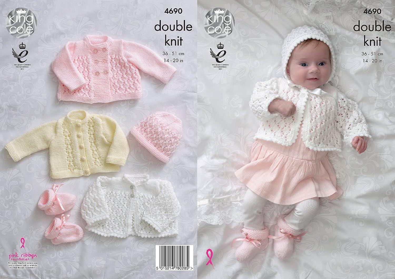 King Cole bebé doble tejer patrón para Matinee abrigo chaqueta ...