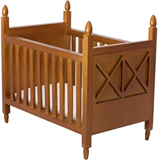 Genial Inusitus Wooden Dollhouse Crib   Dolls House Furniture Bed Nursery   Toys  Brown 1/12