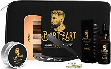 BartZart - Set de cuidado de la barba con navaja de afeitar I aceite ...