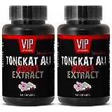 Longjack 200 : 1 - Tongkat Ali 400mg Premium Extract - Natural Testosterone Booster (2 Bottles 120 Capsules)