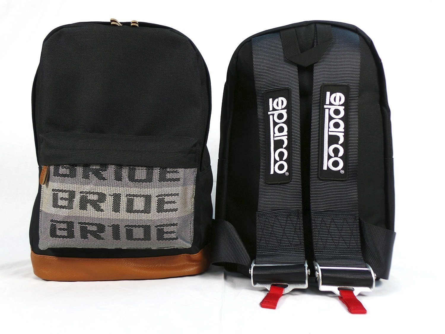 BRIDE×SPARCO Harness Backpack black ブリッド×スパルコ バックパック【並行輸入品】 B01LXUONW0 黒 黒
