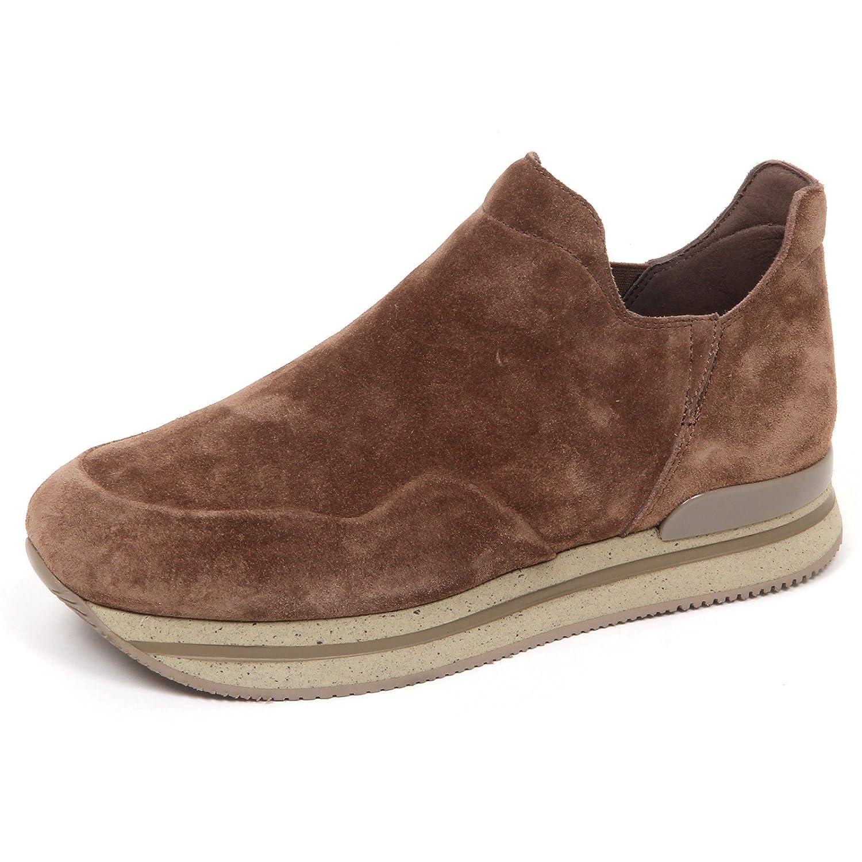 Hogan E4826 Sneaker Donna Light Brown H222 Scarpe Suede Slip On Shoe Woman 39 EU|marrone chiaro