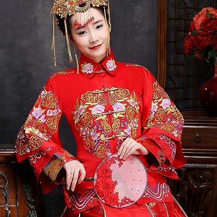 Cocina China Wo Vestidos de Novia de Los Hombres Mujeres Embarazadas Shangrique Vestidos de Alta Cintura