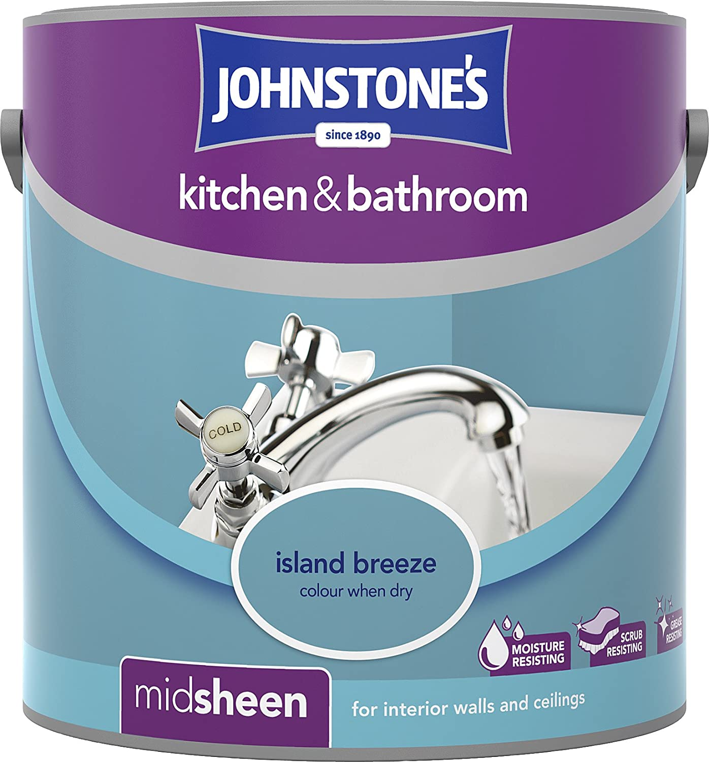 Johnstone\'s 307062 2.5 Litre Kitchen and Bathroom Emulsion Paint ...