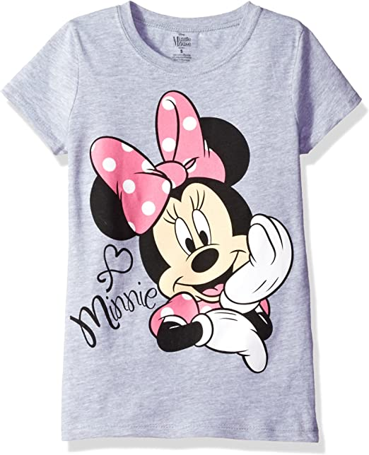 Disney Store Minnie Mouse Short Sleeve T Shirt Girl Size 5//6