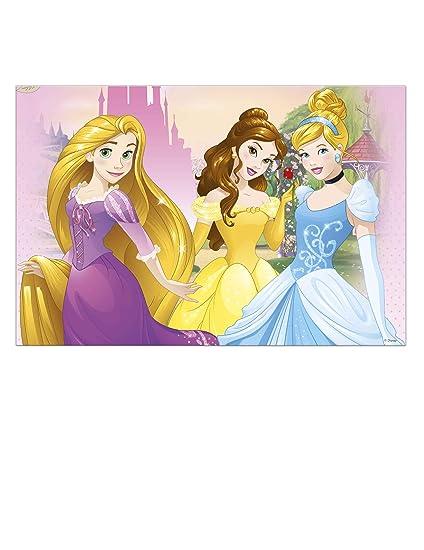 COOLMP - Juego de 6 manteles de plástico Princesas Disney ...