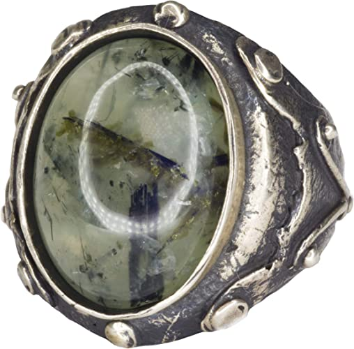 Agate Natural Gemstone Falcon Jewelry Sterling Silver Unisex Ring Handmade