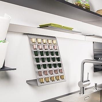 SO-TECH® Linero MosaiQ Dispensador de cápsulas Nespresso gris titanium para 35 cápsulas de café: Amazon.es: Hogar