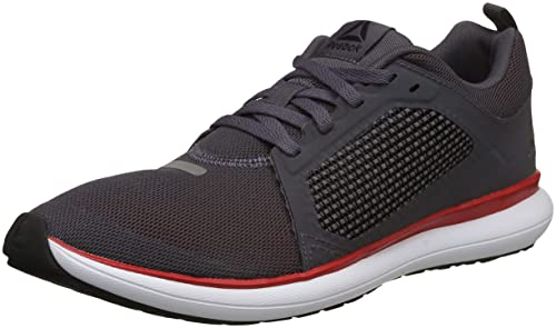 5edbd36bac2ca6 Reebok Men s Driftium Ride Gry Red Wht Blk Pwtr Running Shoes-9.5 UK ...