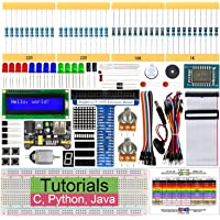 Freenove Super Starter Kit for Raspberry Pi 4 B 3 B+, 285 Pages Detailed Tutorials, Python C Java, 164 Items, 38 Projects, Learn Electronics and Programming, Solderless Breadboard