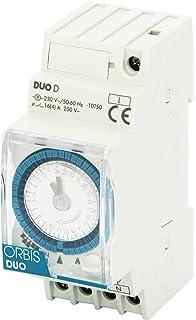 Orbis Duo D 230 V Interruptor horario analógico de distribución, OB291032