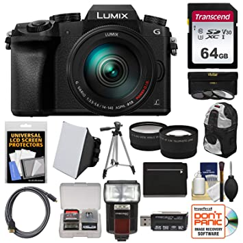 Amazon.com: Panasonic Lumix DMC-G7 4 K WIFI Cámara Digital + ...