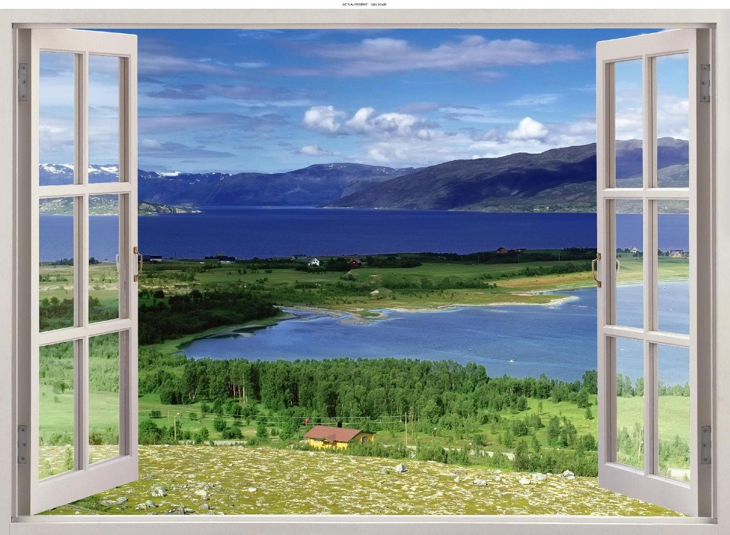 3D Window Countryside Rolling Views