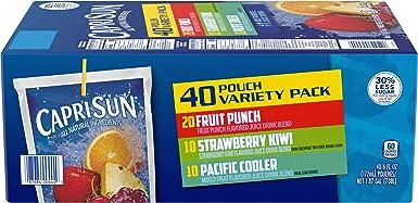 Capri Sun Variety Pack Juice Pouches, Fruit Punch, Strawberry, Kiwi, Wild Cherry and Pacific Cooler, 6 FL OZ (40 Count): Amazon.es: Alimentación y bebidas