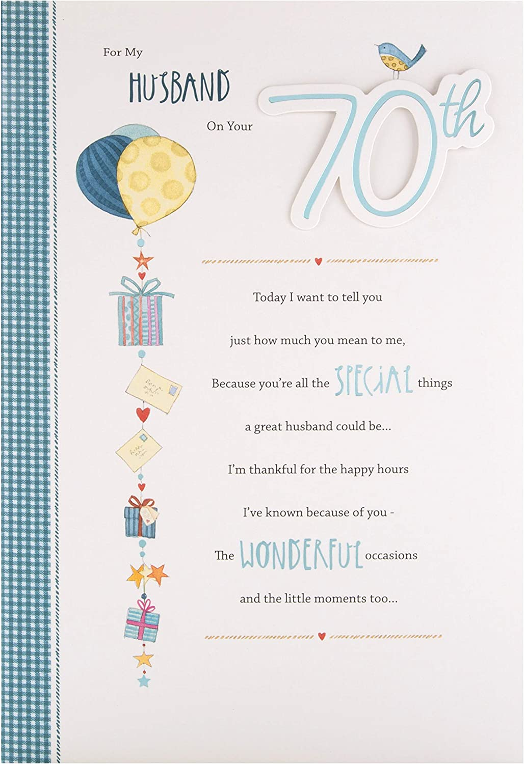 6TH Birthday Card for Husband from Hallmark - with Sentimental Verse