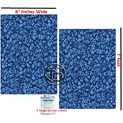 "Vinyl Liner Swimming Pool Patch Kit (2) 8"" Inch x 1 Ft W/Glue, Above or Under Water Repair Safe, Strong & Durable. : Swimming Pool Maintenance Kits : Garden & Outdoor"