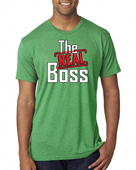 92035eaa Wild Bobby The Real Boss | Mens Pop Culture Premium Tri Blend Tee Graphic T-