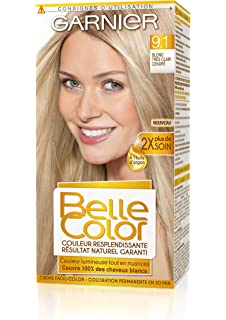 garnier belle color coloration permanente blond 91 blond trs clair cendr naturel - Shampoing Colorant Garnier
