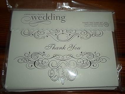 American Crafts juego de tarjeta de agradecimiento de boda ...
