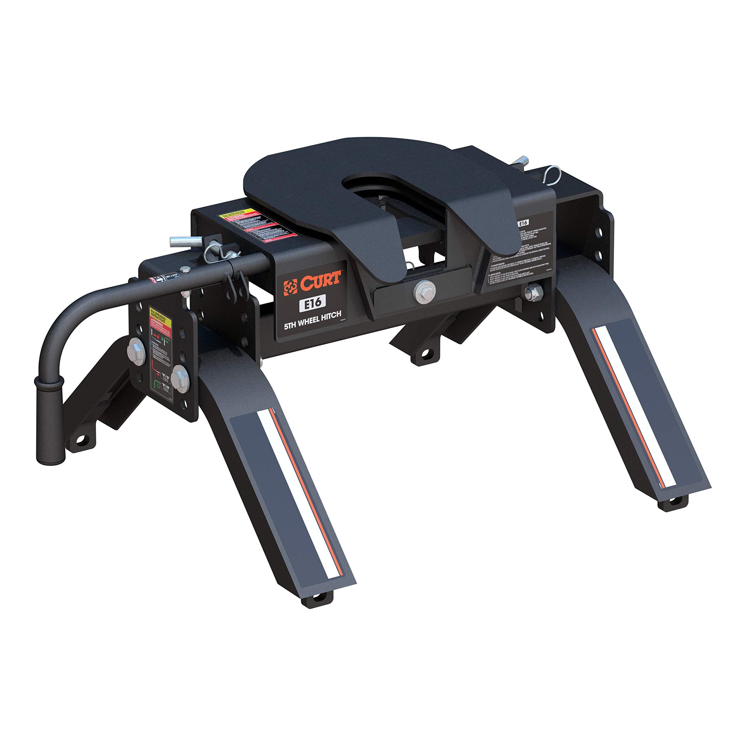 CURT 16115 Black E16 5th Wheel Hitch, 16,000 lbs by CURT