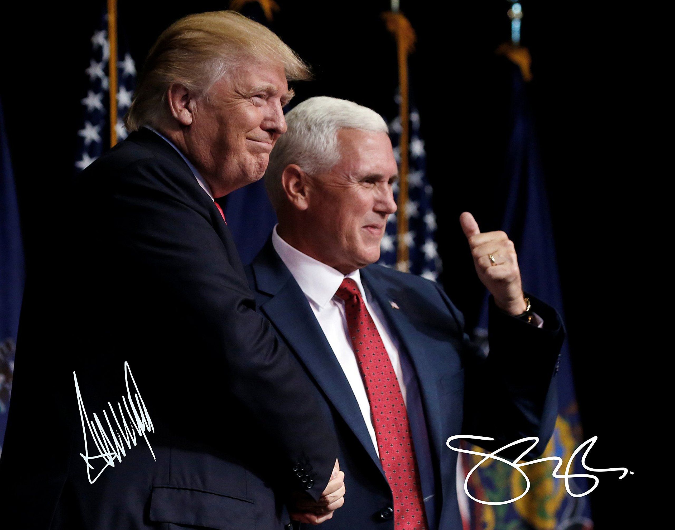 Donald Trump and Mike Pence Autographed Preprint