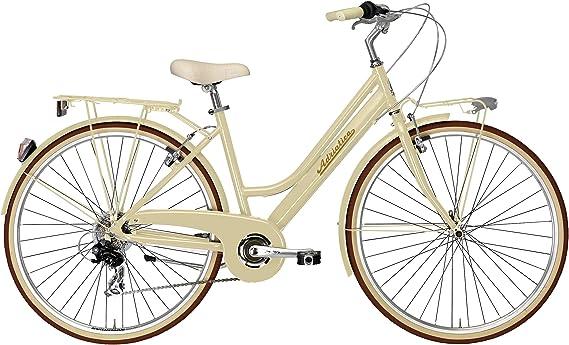 Adriatica - Bicicleta de ciudad para mujer de 28 pulgadas Sity Retro Lady, beige: Amazon.es: Deportes y aire libre